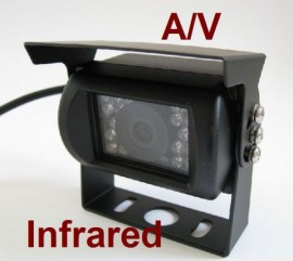 Waterproof with the rain shield CCD AV Night Vision Backup Camera