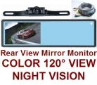MIRROR MOUNT REAR VIEW BACKUP CAMERA SYSTEM WITH LICENSE CAMERA