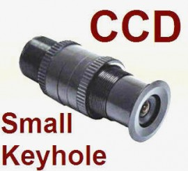 SMALLEST COLOR CCD KEYHOLE REAR VIEW BACKUP CAMERA
