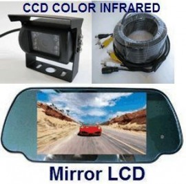 CCD Color Rear View Backup Camera & TFT LCD Mirror Monitor