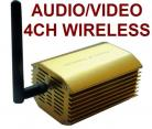 3000mw 4-Channel Wireless AV Audio/Video Transmitter & Receiver Kit