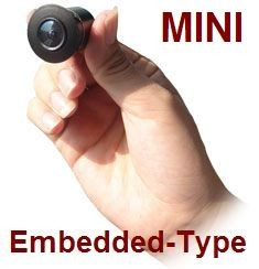 MINI EMBEDDED 180° VIEW CCD REAR VIEW BACKUP CAMERA(CW637)