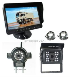 "5"" LCD Color Rear View Backup Camera System with 2 CCD Camera 700 TVL (Front View and Back View)"