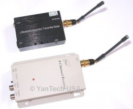 Super Power 7000mw 4-CH FPV Wireless A/V Transmitter Receiver set 1.2G Audio/Video Camera CCTV
