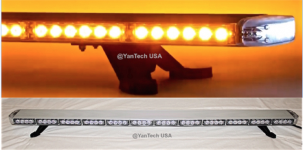 60 Quot Amber Clear Led Light Bar Flashing Warning Tow Truck