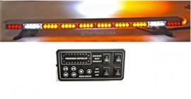"49"" Amber Clear Super Bright 86 LEDs Light Bar Flashing Warning Tow Truck Wrecker Police Snow Plow with CARGO & BRAKE/TURN SIGNAL/SIDE MARKER Lights"