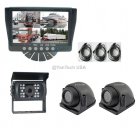 Quad Rear View Backup Camera System with 700TVL CCD Reverse Camera and Two Side View Cameras