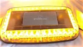 """14"""" Amber Mini Light Bar Emergency Warning Magnet Strobe Light w/ Magnetic Base"""