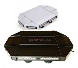 "Black Hawk Rooftop 18"" Mini TIR LED Light Bar Warning Strobe 40 LEDs with Magnetic Base"
