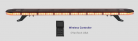 "48"" Amber LED Emergency Strobe Lightbar 1 Inch Super Thin w/ Wireless Controller for Tow Truck Plow EMS Police Car Wrecker"