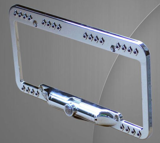 CCD License Plate Frame Mount Rear View Backup Camera