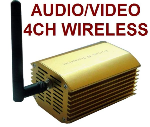 3000mw 4-Channel Wireless AV Audio/Video Transmitter