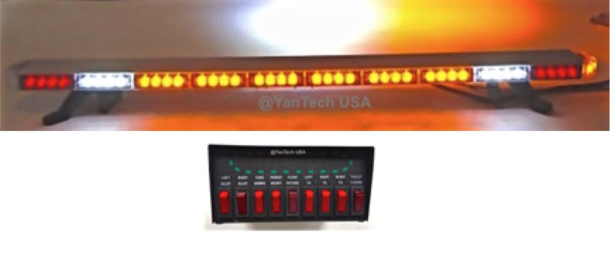 484u201d amber clear super bright 86 leds light bar flashing warning tow truck wrecker police