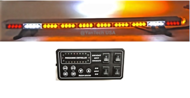 Amber Led Light Bar Flashing