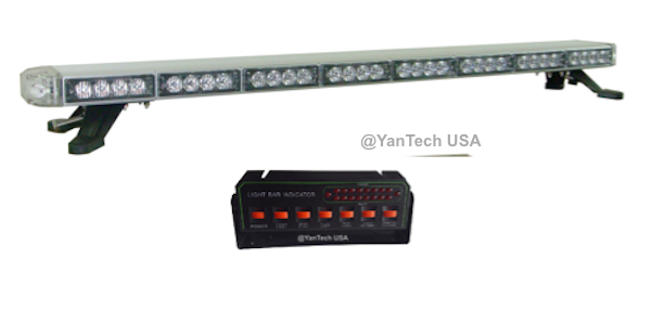 50 amber led light bar flashing warning construction towplow 50 mozeypictures Image collections